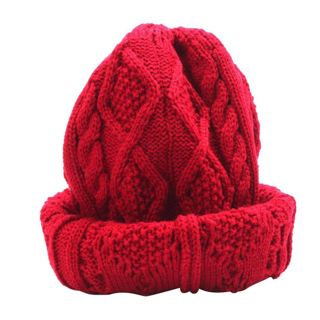 Koly® Women's Winter Warm Hat Crochet Knitted Baggy Beanie Oversized Ski Cap Koly- NSFDKL