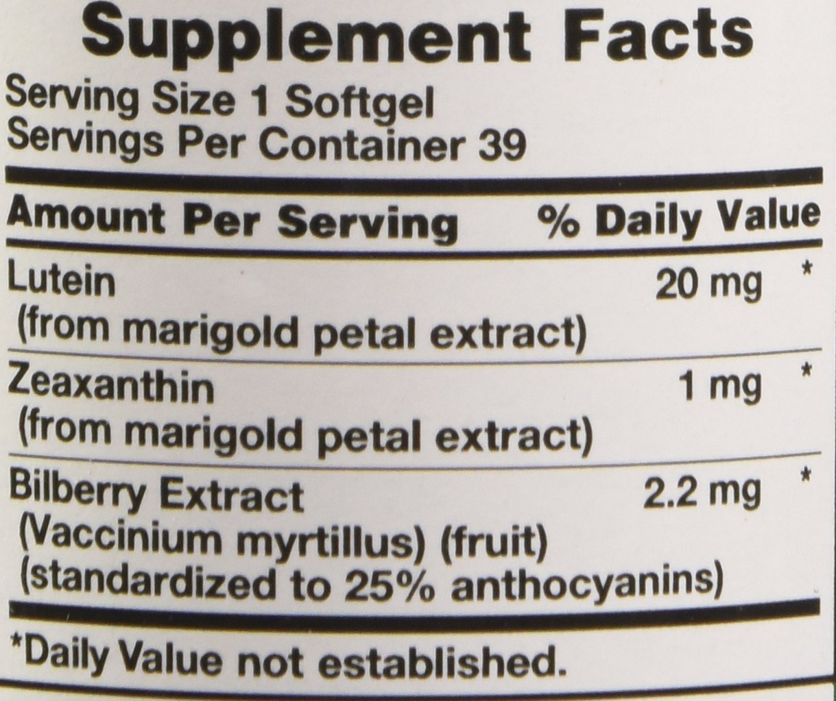 Nature's Truth Lutein 20 mg Plus Zeaxanthin and Bilberry Capsules, 39 Count by Nature's Truth (Image #3)