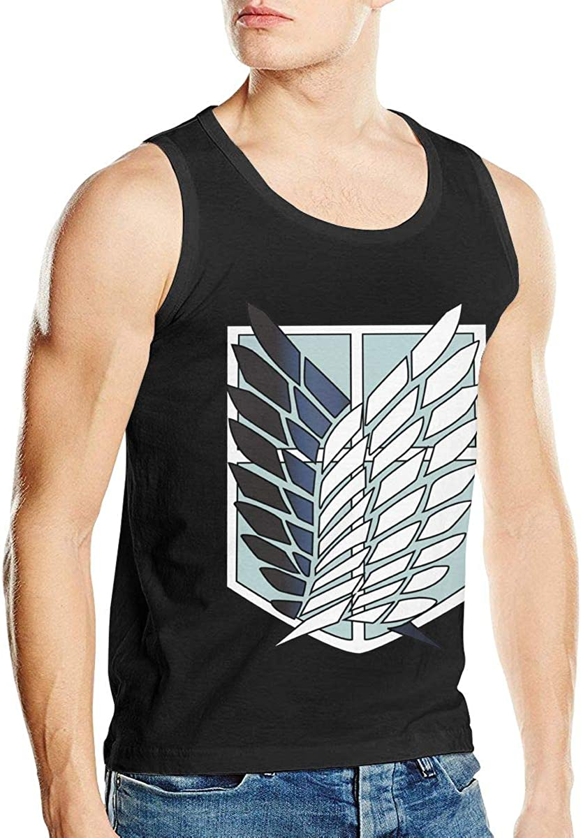 Mens Attack On Titan Classic Adult Tank Vest T-Shirt