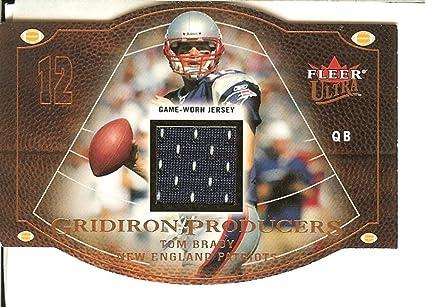 huge selection of f6972 5fe32 Amazon.com : 2004 Fleer Ultra Tom Brady Game Used Jersey ...