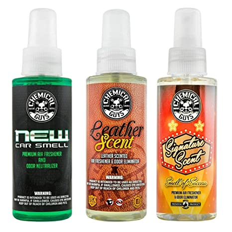Best Air Freshener >> Chemical Guys Air 301 04 Best Air Freshener Kit New Car Scent Leather Scent Signature Stripper Scent 3 4 Oz Bottles