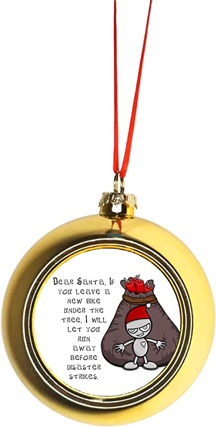 Space Santa Christmas Tree DecorationNovelty Funny Christmas Ornament Bauble