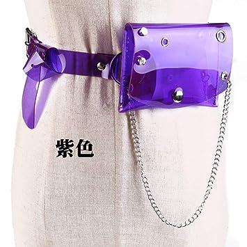 ADGJLI Bolsas De Cintura Transparentes con Cinturón para ...