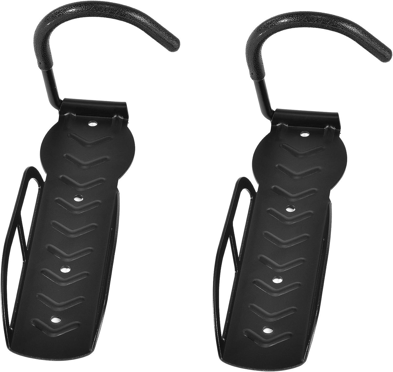 [in.tec] 2x ganchos para colgar la bicicleta en la pared - soporte de pared - material de montaje incluido