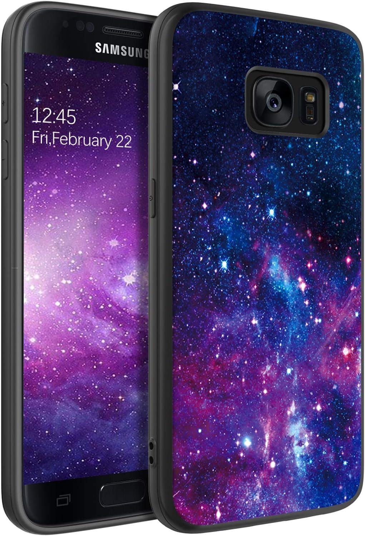 BENTOBEN Samsung Galaxy S7 Case, Samsung S7 Case, Slim Fit Glow in The Dark Soft Flexible Bumper Protective Shockproof Anti Scratch Non-Slip Cases Cover for Samsung Galaxy S7 (2016), Nebula/Galaxy