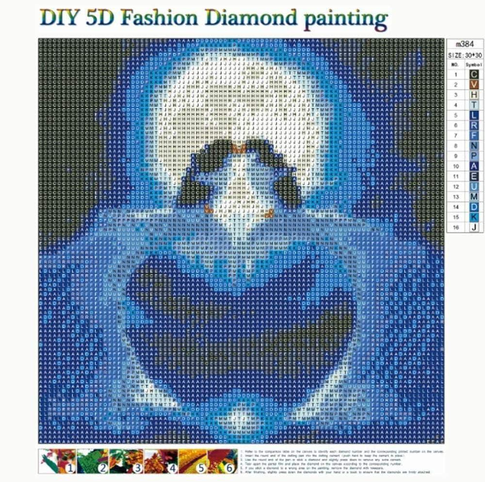 40Cm 5D Diamond Pintura De Diamantes Dise/ño Abstracto Barco En El Lago Cuadros Diamantes 5D Para Hacer-30