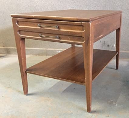 Amazoncom Mersman Side Table Vintage End Table Drawer Mid Century