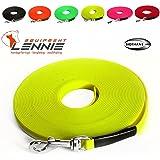 Extra leichte Schleppleine aus 9 mm Super Flex BioThane® / 1-30 Meter / 9 Farben / genäht / ohne Handschlaufe