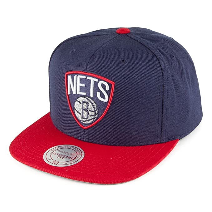 Mitchell   Ness Gorra Current Throwback Brooklyn Nets Azul Marino-Rojo -  Ajustable fd3a1c93ae6