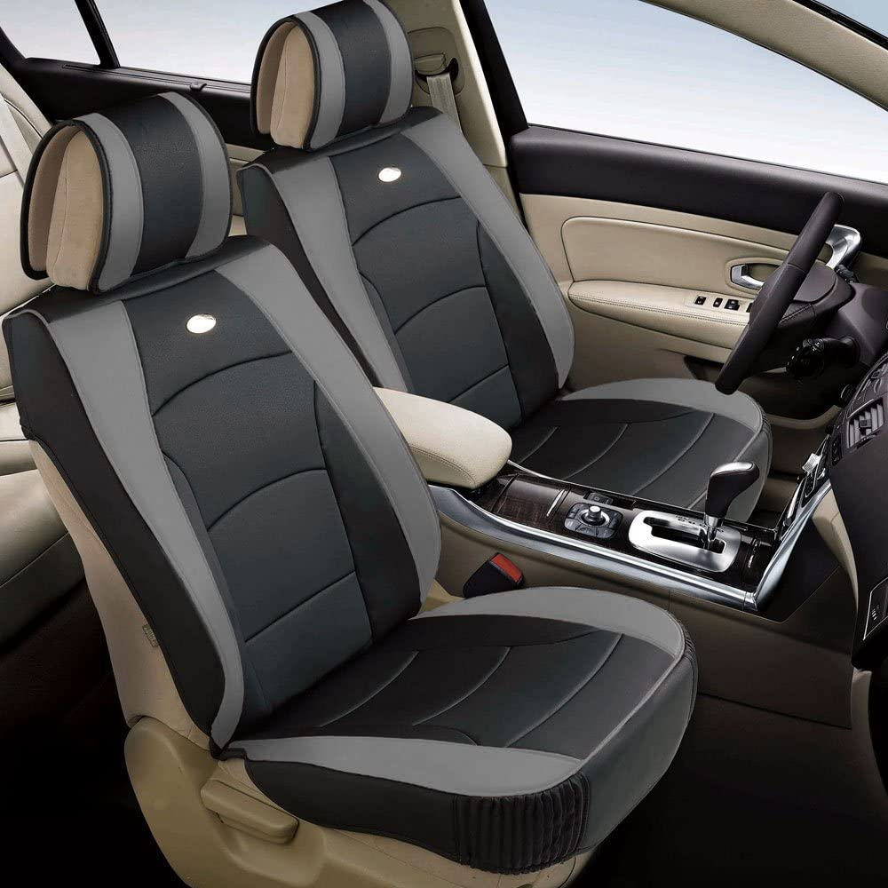 2012 2013 Cadillac CTS Driver Side Bottom Gray Perforated Leather Seat Cover