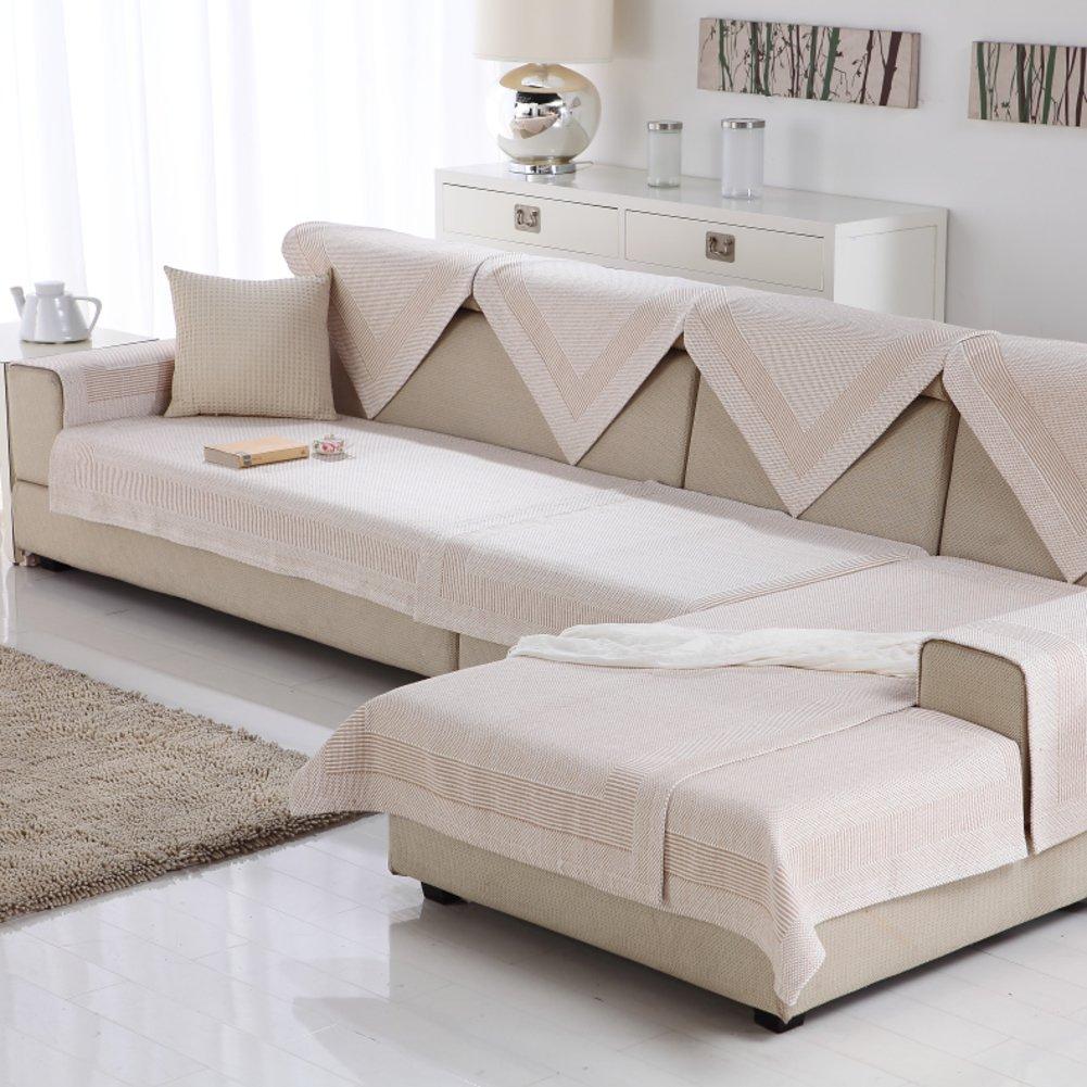 Sofa cushions Cotton sofa towel Non-slip wear Comfortable and breathable-B 110x240cm(43x94inch)