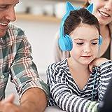 Kids Headphones, Vogek 2 in 1 Cat/Bunny Ear Wired