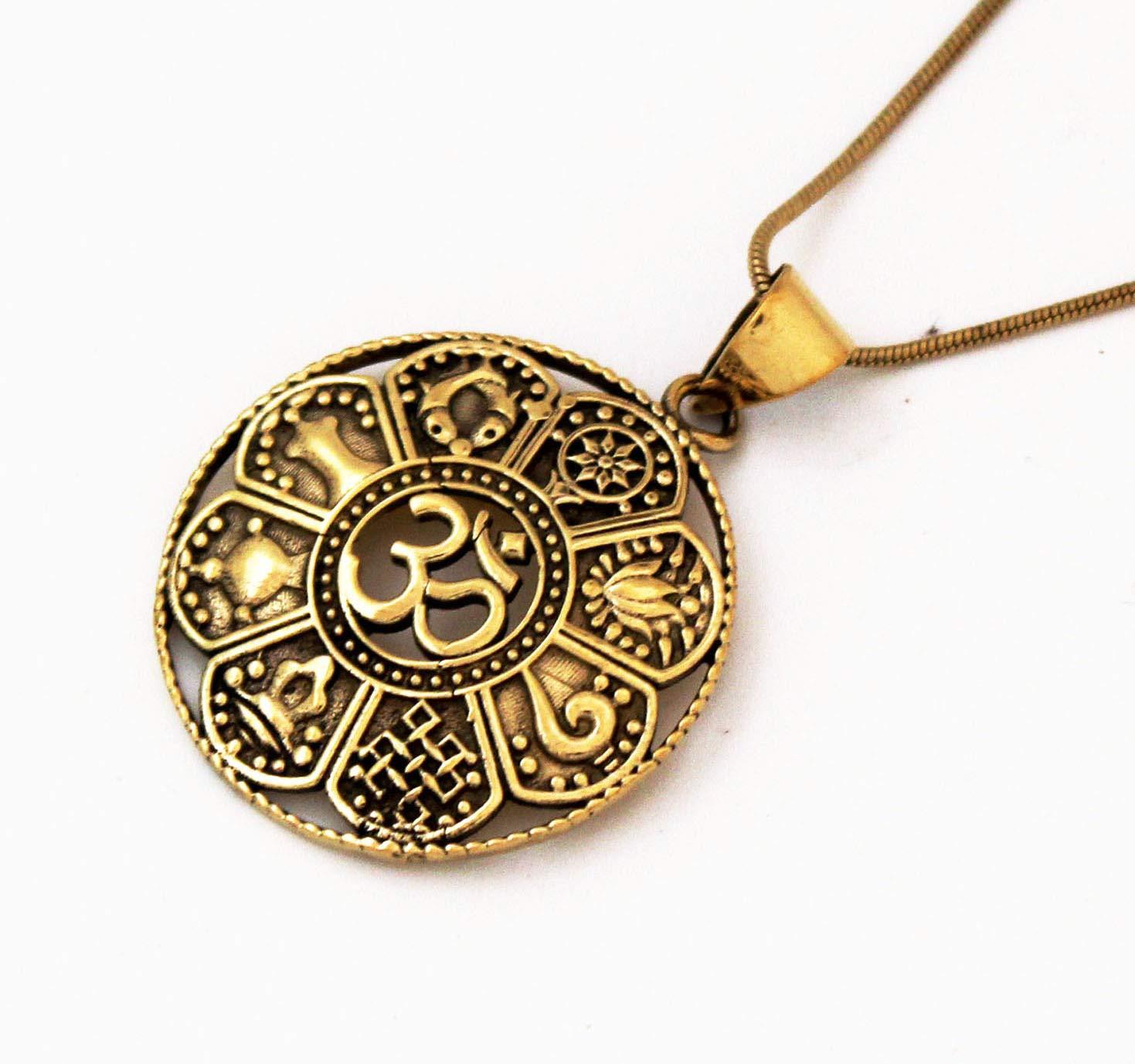 Brass Jewellery. Indian Jewellery Gypsy Necklace Boho Pendant Tribal Brass Pendant Tribal Necklace Boho Jewellery Brass Necklace