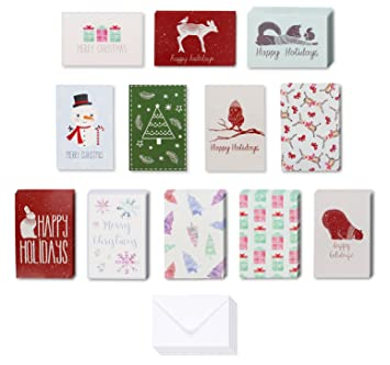 Amazon merry christmas greeting cards bulk box set assorted merry christmas greeting cards bulk box set assorted winter holiday xmas kraft greeting cards in m4hsunfo
