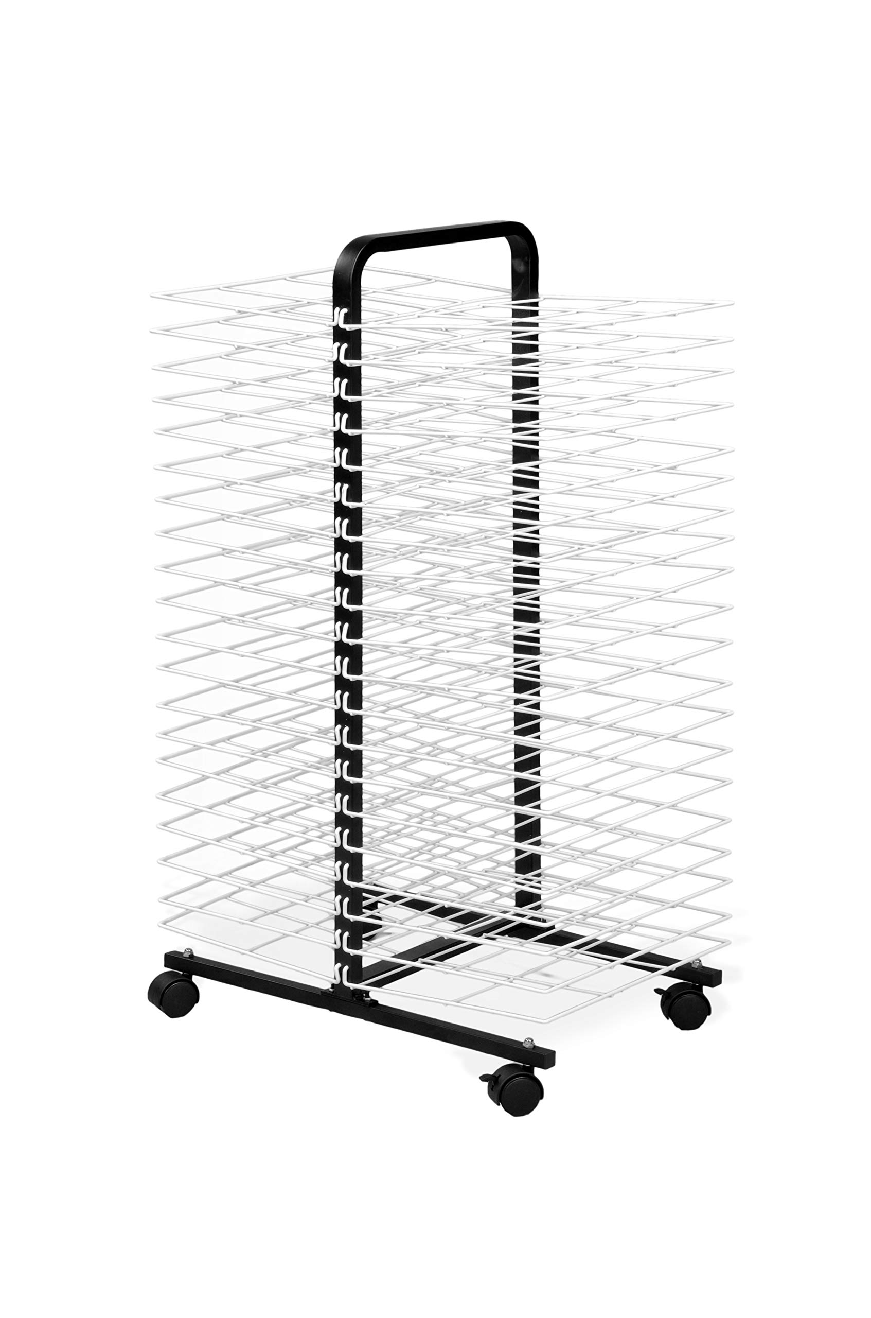 American Educational Products A-C1168 Drying Rack on Wheels, 40 Shelf, 7'' Height, 18'' Wide, 48'' Length by American Educational Products