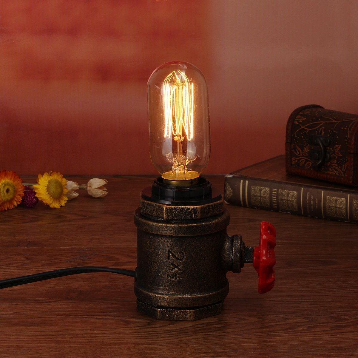 Vintage Retro Table Desk Lamp Lighting Kit Antique Bedroom