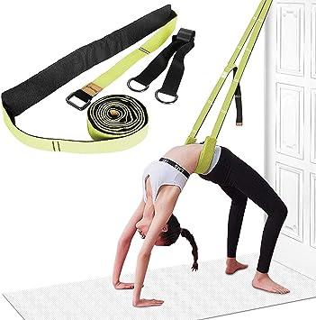 Yoga Fitness Stretching Strap - Back Bend Assist Trainer, Improve Leg Waist Back Flexibility for Rehab Pilates Ballet Dance Cheerleading Splits ...