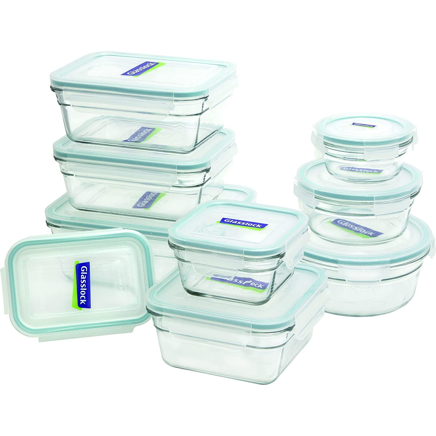 Glasslock 1129218-Piece Assorted Oven Safe Container Set (Renewed)