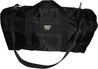 product image for Carry on size weekend bag, Main compartment and two end pockets, Made in USA. (Black)