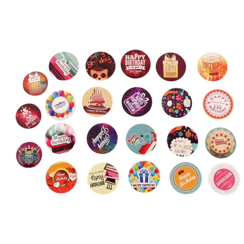 Happy birthday stickers autocollants décoration scrapbooking amazon fr cuisine maison