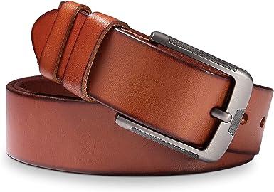 BESTKEE Cinturón Hombre Cuero - Cinturones Piel Ajustables para ...