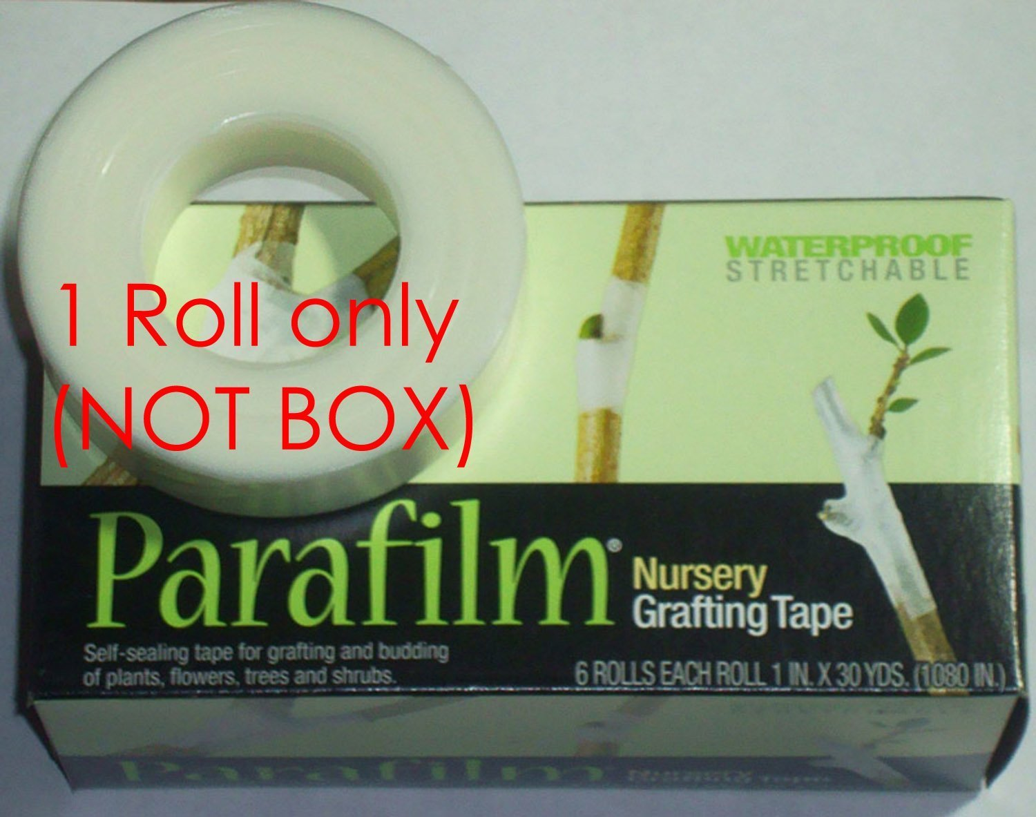 """1 Roll Parafilm Nursery Grafting Tape (Not Box) - Size: 1""""wide X 1080""""long"""