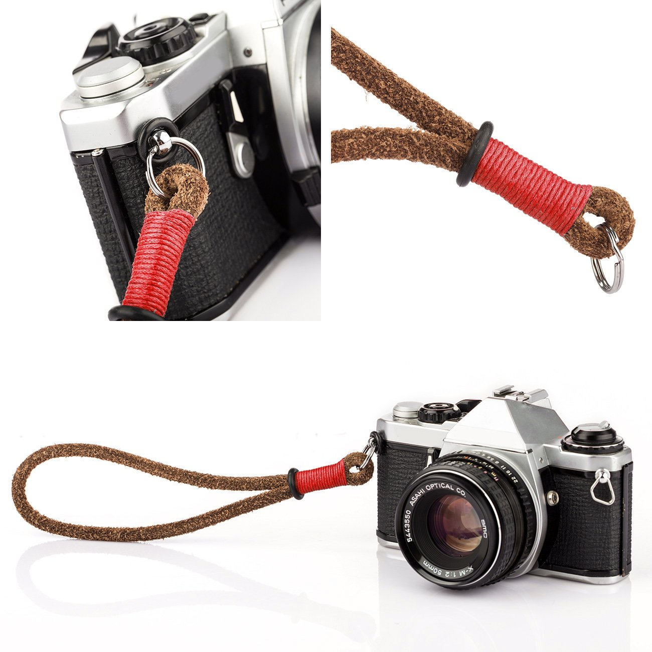 TARION Handmade Handcrafted First Layer Leather Camera Hand Wrist ...