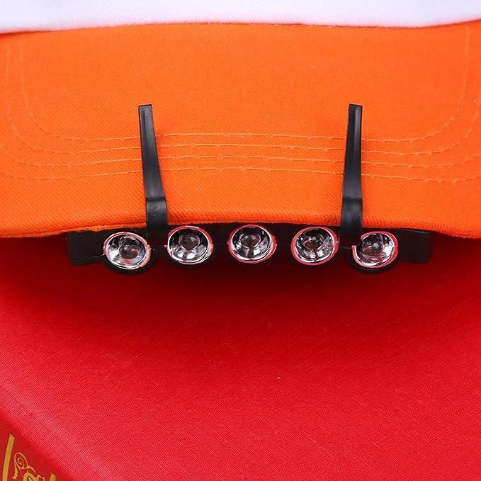 Sunlera 5 LEDs Hut Cap Clip Licht Lampe Scheinwerfer Scheinwerfer f/ür Angeln Camping