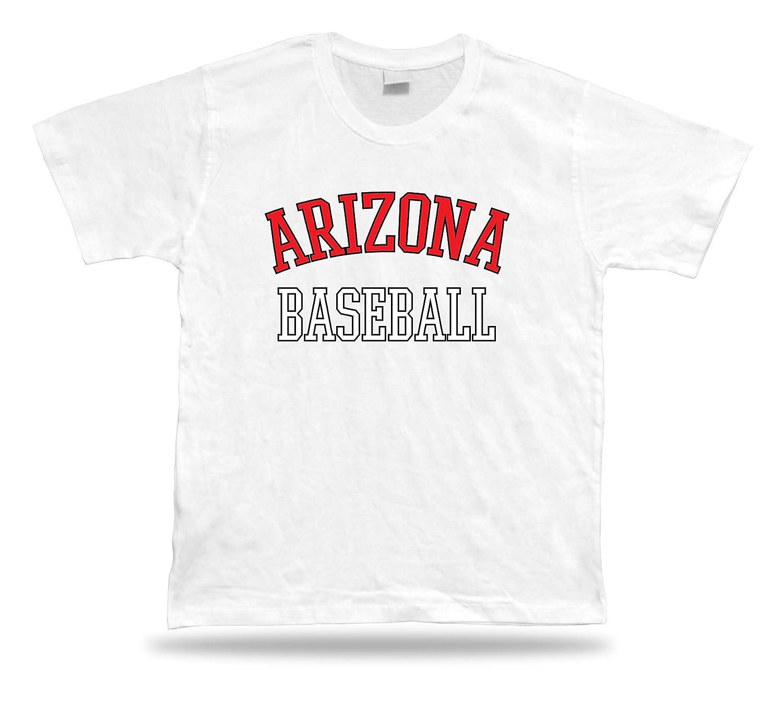 Arizona BASEBALL t-shirt tee black white red AZ USA summer apparel field design