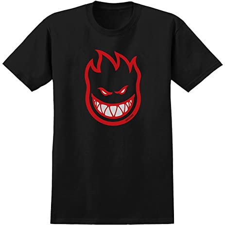 Amazon.com : Spitfire Wheels Bighead Fill Black / Red T-Shirt ...
