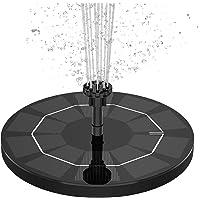 AISITIN Solar Fuente Bomba, Fuente de Jardín Solar, Panel Solar Flotante de batería incorporada de 1500mAH con 6…