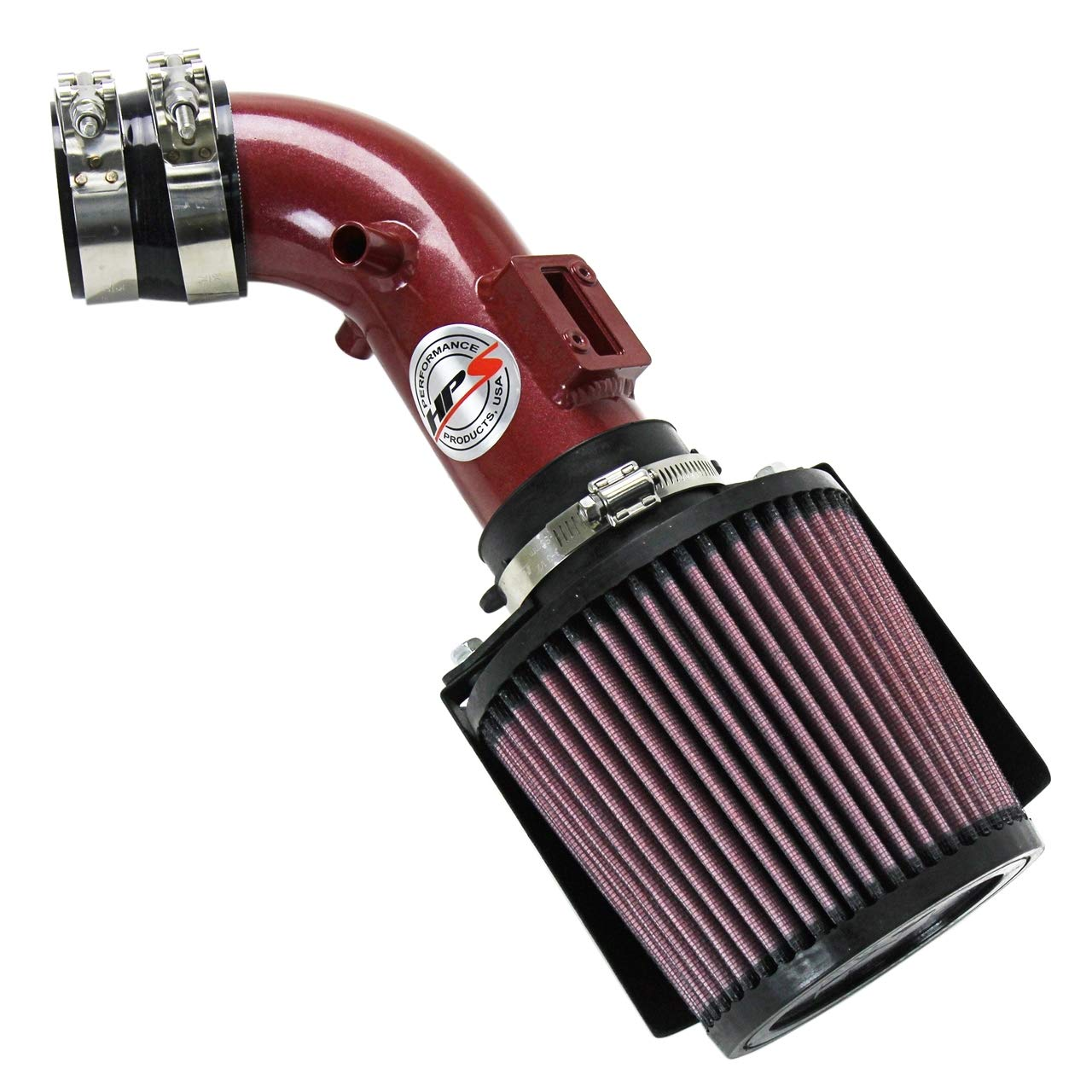 HPS 27-163BL Blue Short Ram Air Intake Kit with Heat Shield Non-CARB Compliant