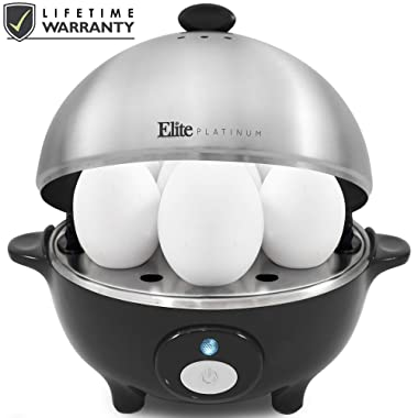 Maxi-Matic EGC-508 by Easy Electric Egg Poacher, Omelet & Soft, Medium, Hard-Boiled Measuring Cup Included, 7 Capacity, Stainless Steel