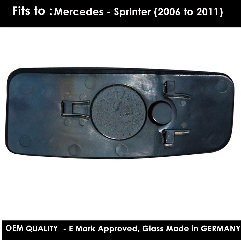 FOKA 1996 to 2008 Silver Door Mirror Glass LH Passenger Side