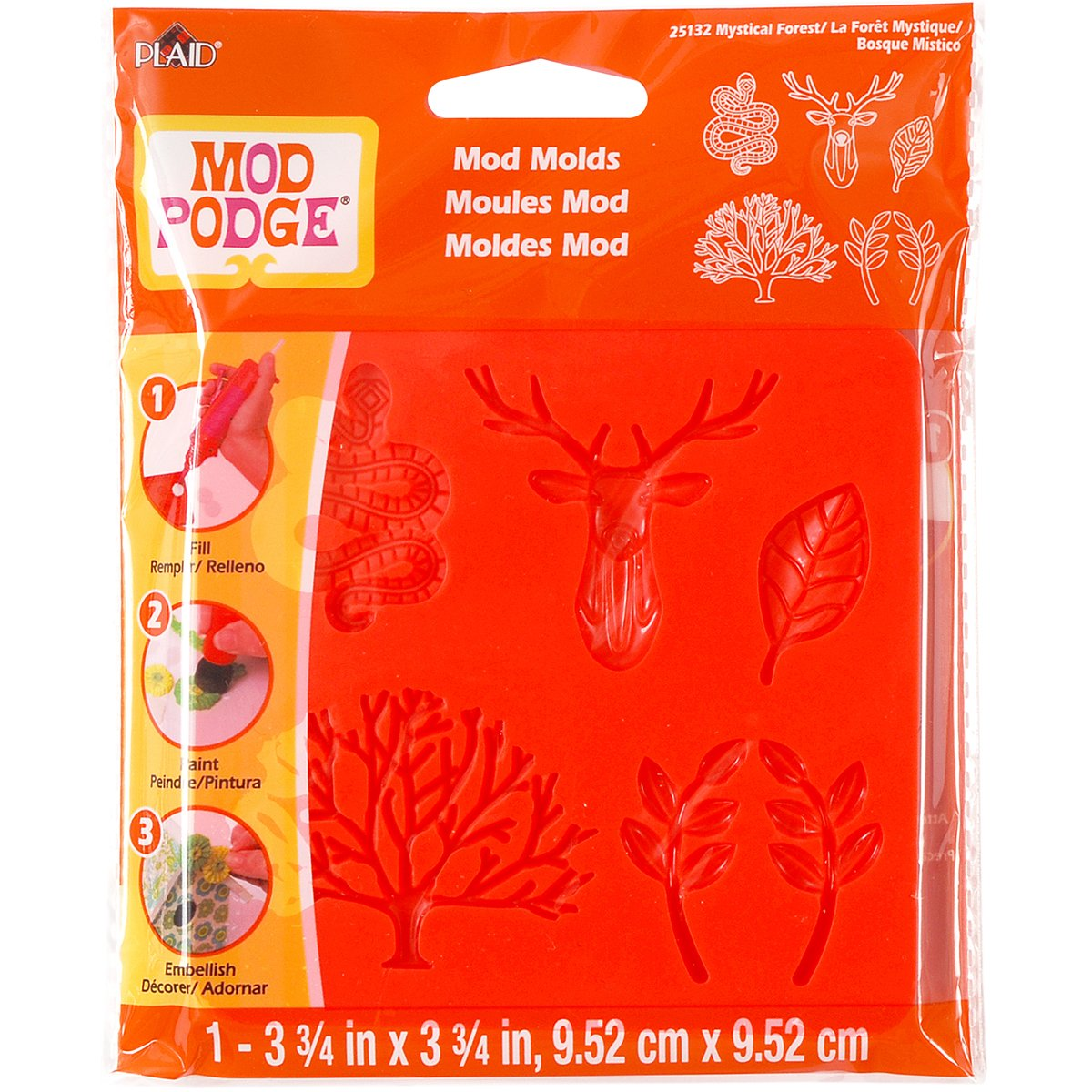 Mod Podge Mod Mold (3-3/4 by 3-3/4-Inch), 25132 Mystical Forest Plaid Inc glue top coat craft adhesive embellishments