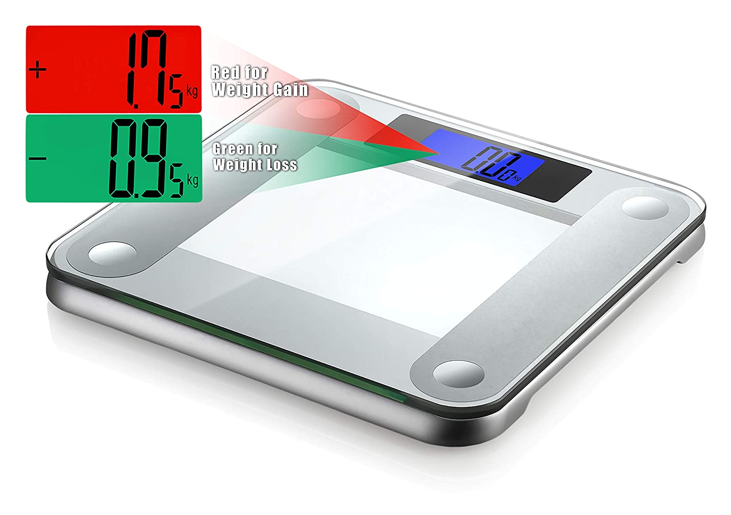 Ozeri Precision II 440 Lbs 200 Kg Bath Scale With 50g Sensor Technology 0.1 Lbs 0.05 kg Weight Change Detection