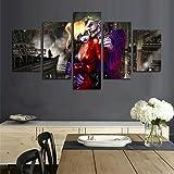 AtfArt 5 Piece Dark Knight Joker and Harley Quinn