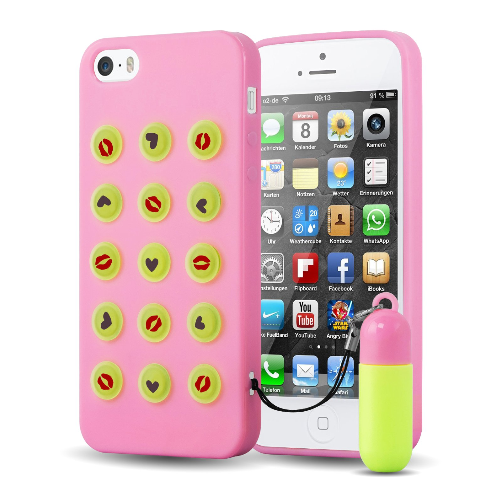 uk availability cefd3 be4ee iPhone 5s Case, JAMMYLIZARD Fun 3D Silicone [Smarties] Adjustable ...