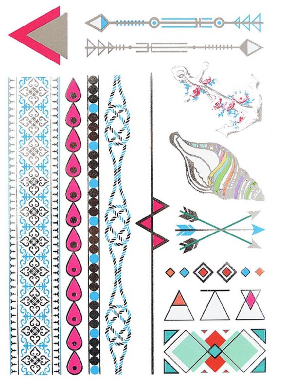 Yh096 - Tatuaje falso para el cuerpo - Brazos - Tobillos - Muñeca ...