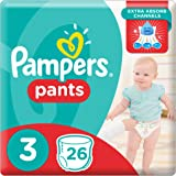 Pampers Pants Diapers, Size 3, Midi, 6-11 kg, Carry Pack, 26 Count
