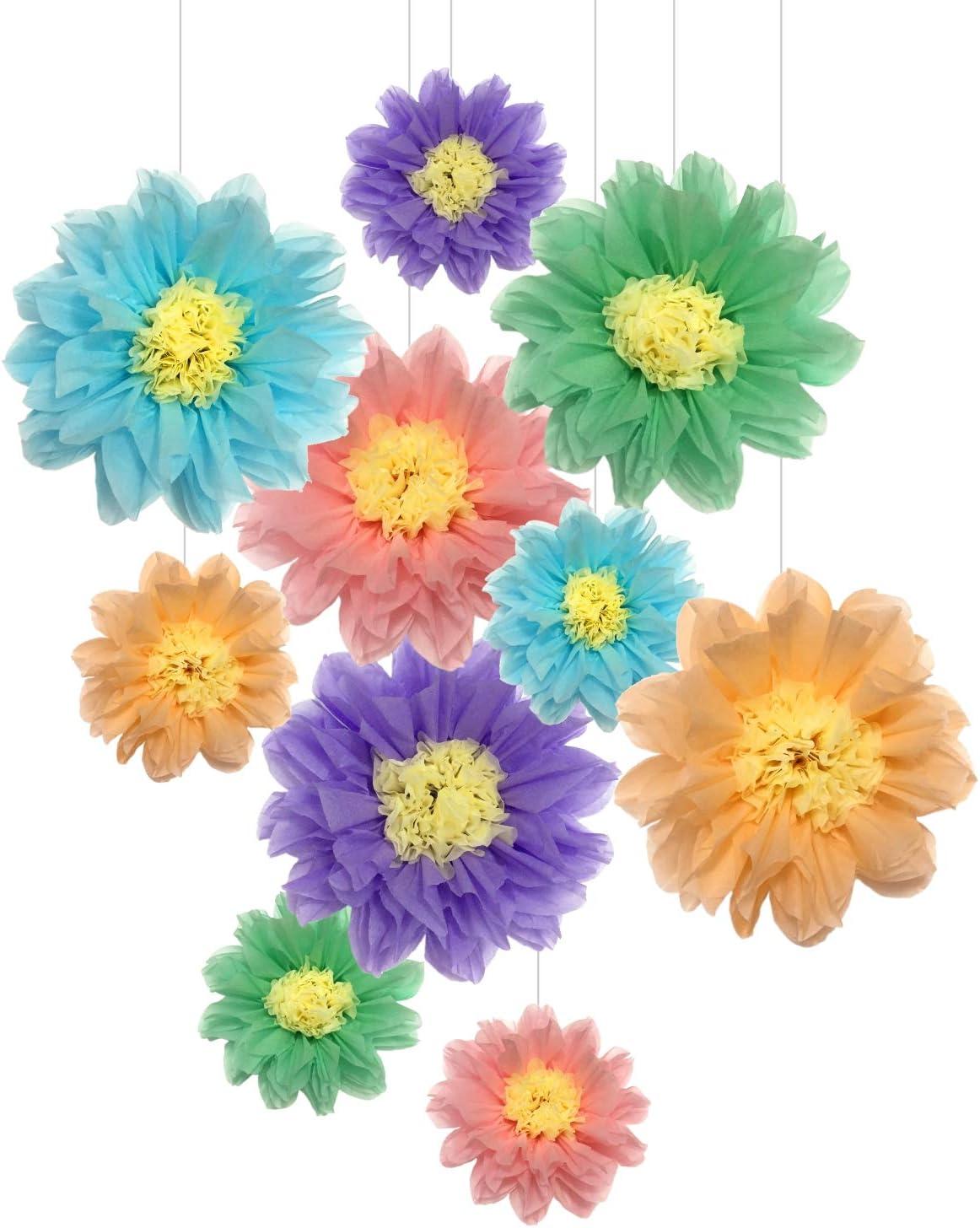 Amazon Com Tissue Paper Flowers Decorations Paper Pom Poms For