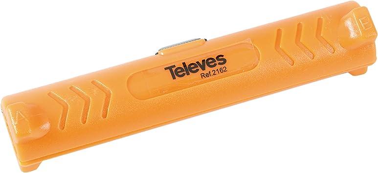 Televes 2162 Pelacables Cable COAXIAL, Naranja: Amazon.es ...