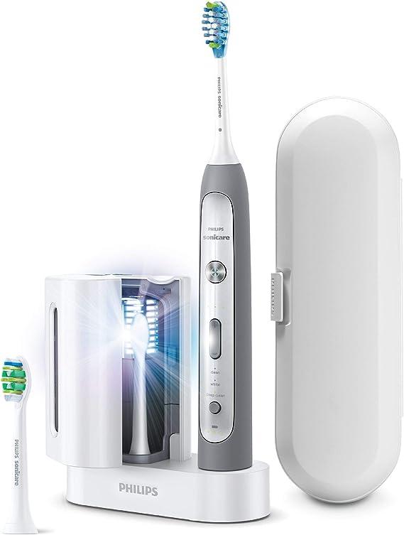 Philips Sonicare FlexCare Platinum HX9172/14 cepillo eléctrico para dientes Adulto Cepillo dental sónico Gris, Blanco - Cepillo de dientes eléctrico (AC/Batería, 110-220 V, Ión de litio, 1 pieza(s), 2 pieza(s)): Amazon.es: Hogar
