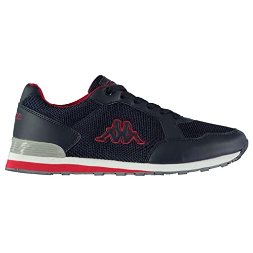 Kappa Mens Titano Trainers Sneakers Low Tops Running Shoes Navy Red UK 12  (46 7c6d98f56b3