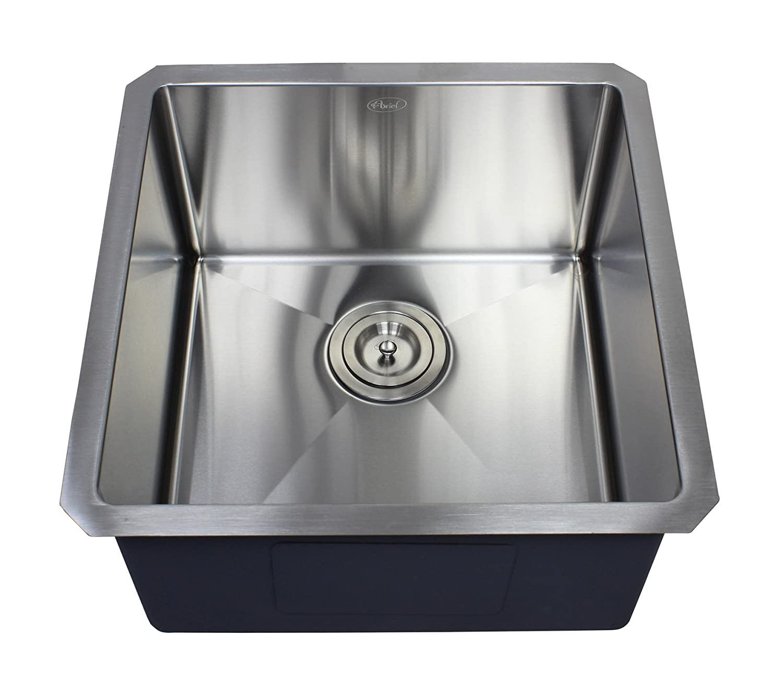 Ariel 18 x 18 Single Bowl Undermount Kitchen Sink