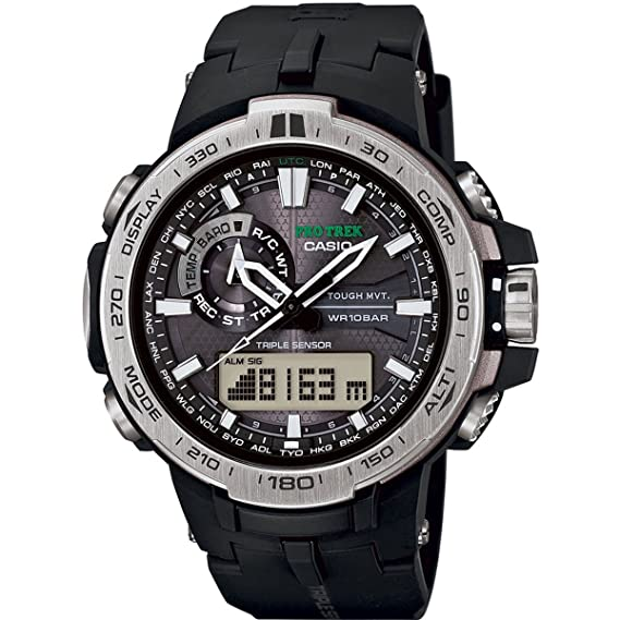 488ee75ea8da Reloj Casio Pro Trek PRW - 6000 - 1er de hombre negro  Casio  Amazon ...