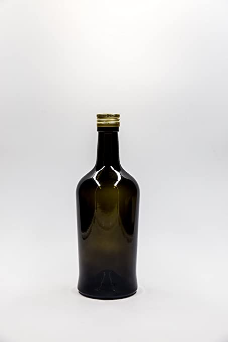 nr 1 botella Domenicana 500 ml de vidrio verde tapón n°6