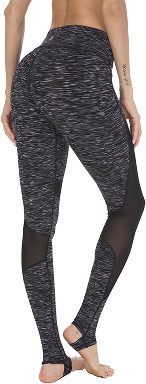 Queenie Ke Mujer Mallas Leggings Pantalones Yoga Running Tinte Negro Satinado M
