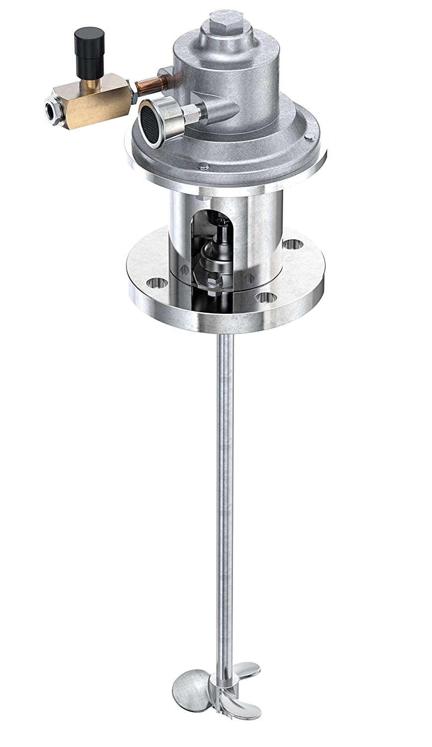 Mixer Direct 3//4 HP Air Direct Drive Flange Mount