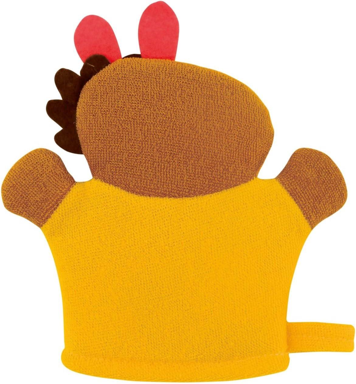 Motiv Bieco Waschhandschuh mit Baby Handpuppe